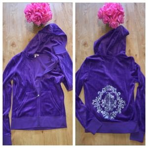 Juicy Couture Bling Hoodie Small